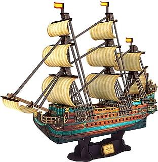 CubicFun T4017h The San Felipe Vessel Models 3D Puzzle, 248 Pieces