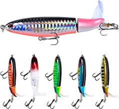 Fishing Lure Set Bass with Topwater Floating Rotating...