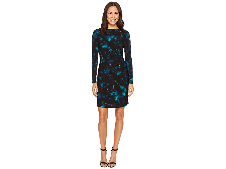 Ellen Tracy Twisted Waist Dress (Aurora Night Sky) Women