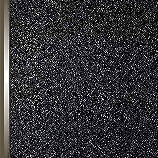 vinay 窓 めかくしシート 窓用フィルム すりガラスシート 水だけで貼れる 飛散防止 目隠し UVカット 貼り直し可 断熱 遮光 オフィスのぞき防止 無接着剤静電ペーストプライバシーガラスフィルム 遮光シート 防犯 (45*200, ブラック)