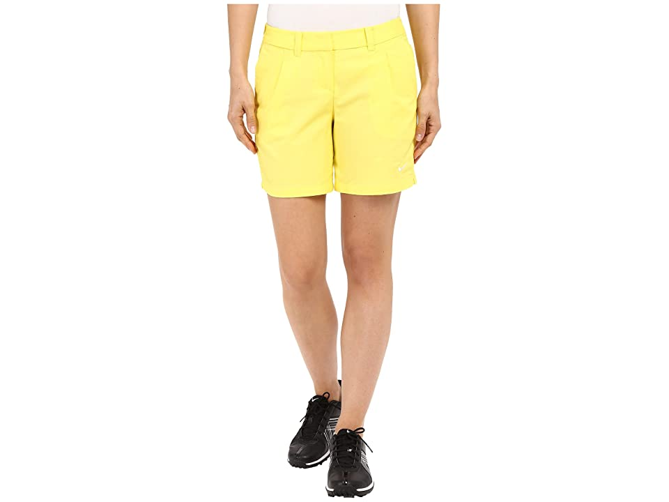 Nike Golf Oxford Shorts (Optic Yellow/White) Women