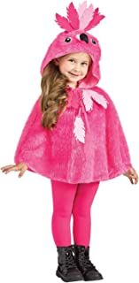 Little Girl's Flamingo Hooded Cape Baby Costume, Pink