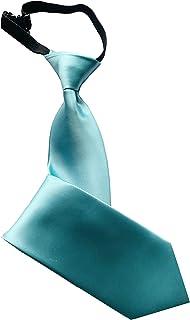 PB Pietro Baldini Cravatta con elastico - Cravatta con elastico in tinta unita - Cravatta di sicurezza - Cravatta legata e...