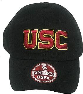 289c apparel USC Trojans Black Wordmark Adjustable Slouch Hat