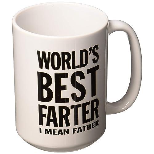 2e38e7940 World's Best Farter, I Mean Father Dad Coffee Mug Christmas gift Ceramic  Mug 15 Oz