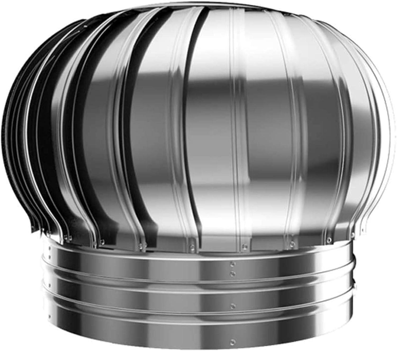 CLLX Sombrero Extractor Giratorio, Ventilador La Turbina Soplador Impermeable A Prueba De Lluvia 304 Acero Inoxidable Gorro De Chimenea Techo Buhardilla Granja La Fábrica,150mm