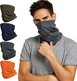 Fashion Neck Gaiter Bandana Face cover Scarf breathable Masks for Women and Men-SET OF Four