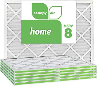 Canopy Air 20x25x1, Home AC Furnace Air Filter, MERV 8, Made in The USA, 6-Pack (Actual Size 19 1/2