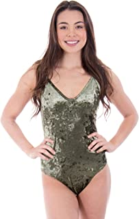 Crushed Velvet Bodysuit - Made in The USA