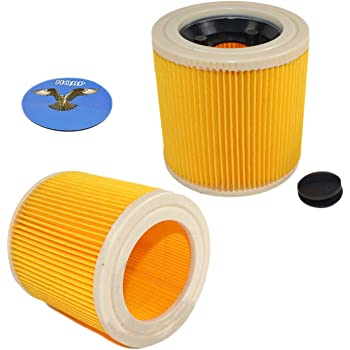 WD 3 P Extension Kit 5x Patronen-Filter für Kärcher WD 2 WD 3 WD 3