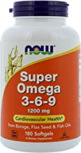 Super Omega 3-6-9 1200 mg - 180 Softgels by NOW