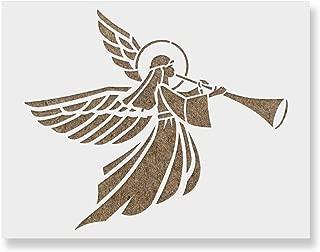 Christmas Angel Stencil Design - Mylar Christmas Stencils for DIY Crafting
