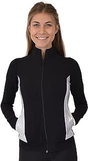 Stretch is Comfort Women's Cadet Warm Up Team Gymnastics Silver Slit Dance Jacket