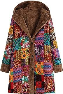 Mujer Plus Size Oversize Abrigo Casaca Parka Chaquetas Capucha de Vintage Patrón étnico Abstracto Franela Peludo Ropa de Abrigo