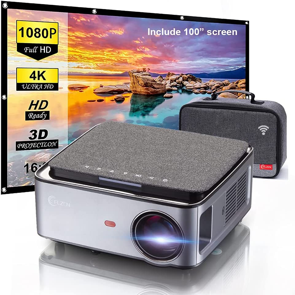 1080P FULL HD Video Projector with Bag 75 Limited price sale Screen Gifts Carry 100