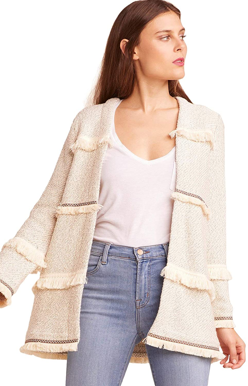JACK security Bombing free shipping Women's Almost Famous Marled Jacket with Terry Novel French