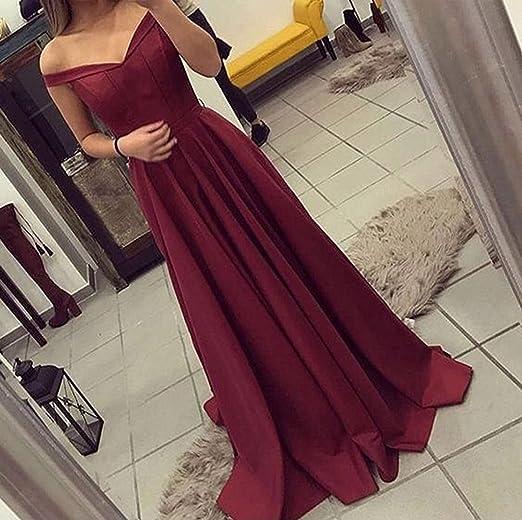 Bainjinbai Lange V Ausschnitt Burgunderrot Damen Abend Brautjungfernkleider Formal Kleider Party Kleider Burgundy Uk 18 Amazon De Bekleidung