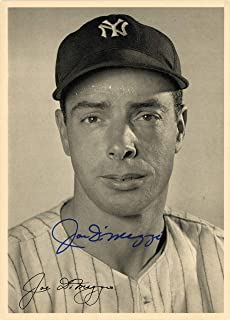 Joe DiMaggio Signed Auto 6.5x9 Photo Picture Pack 1948 New York Yankees - Beckett Authentic