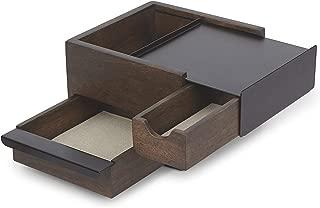 Umbra 1005314-048 Mini Stowit Jewelry Box, Walnut/Black, 3 Pieces