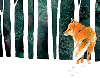 Outfoxed Fox Premium Blank Note Cards Thank You Cards - Boxed Set of 20 Cards and Matching Envelopes