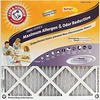 Arm & Hammer Max Allergen & Odor Reduction 16x24x1  Air and Furnace Filter, MERV 11, 4-Pack
