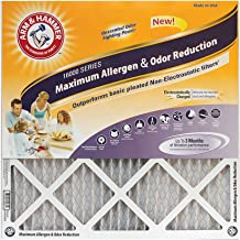 Arm & Hammer Max Allergen & Odor Reduction 18x24x1 Air and Furnace Filter, MERV 11, 4-Pack