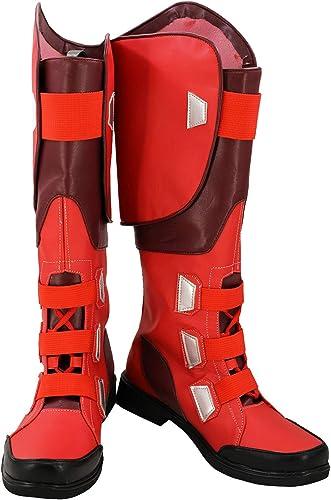 rotJade Captain America Stiefel Karneval Schuhe Cosplay Stiefel Herren Rot 46