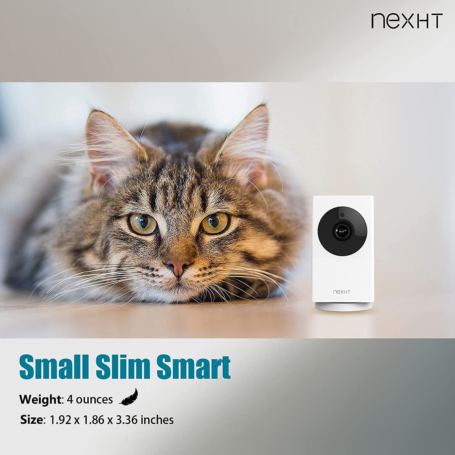 NexHT 1080P Pan Digital Tilt & Zoom Indoor Wi-Fi Camera for Baby, Pet Monitor with Night Vision, Motion Detection and 2-Way Audio Compatible with NexHT Home & IPC360 App