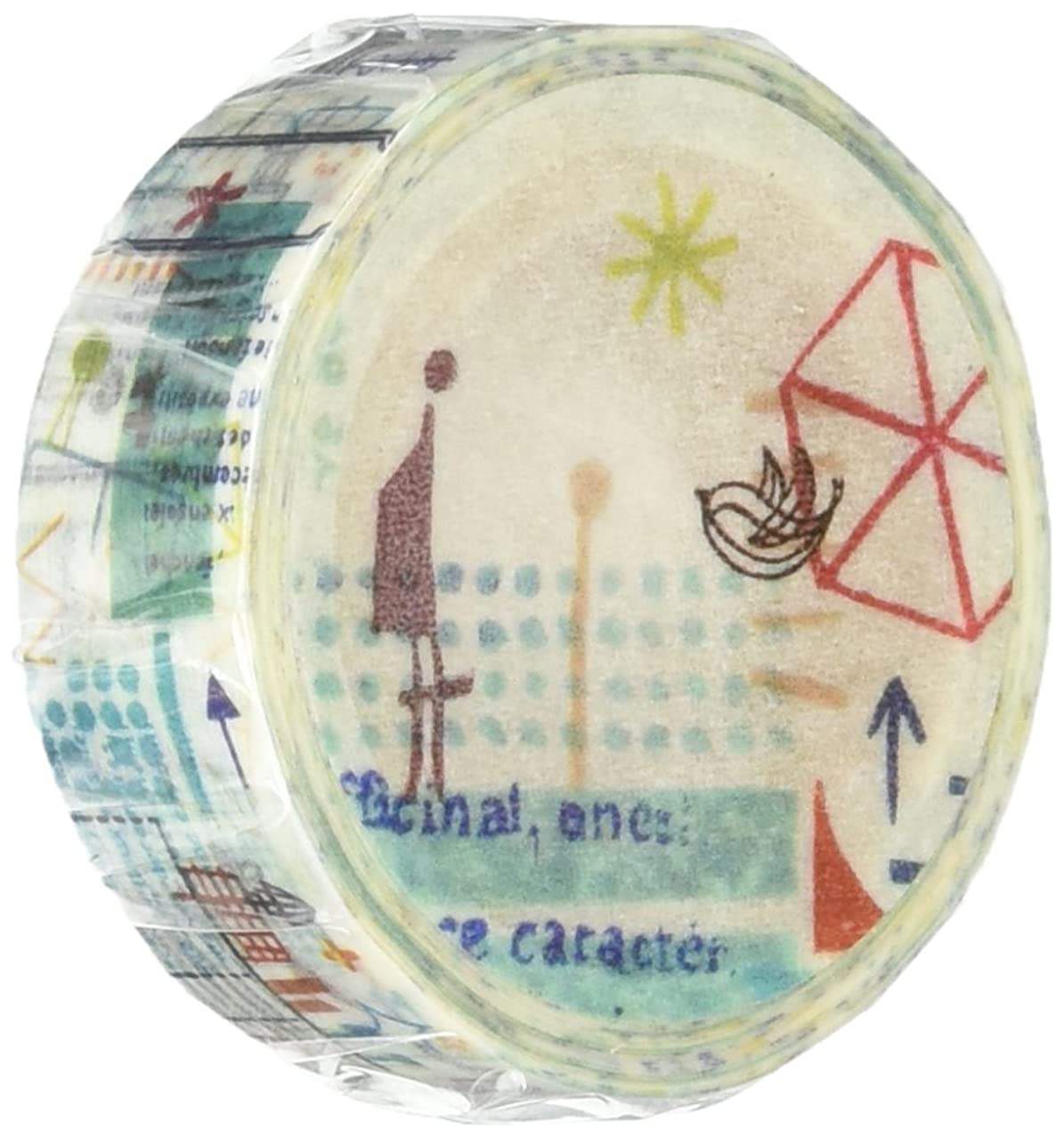 Roundtop Designer's Washi Masking Tape 15mm x 10m, Syoukei, Journey (MTW-1309-018)