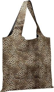 CaTaKu Sac de courses en nylon imperméable et respectueux de l'environnement Motif léopard