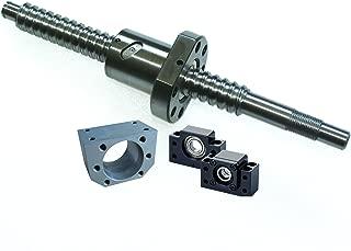 SFU1605 300mm Ballscrew kit + Set BK/BF12 Kit + 1605 Ballscrew RM1605 L300mm Ball Screw with Ball Nuts + Screw Nut Housing for CNC Machine