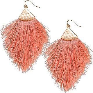 Humble Chic Fringe Tassel Statement Dangle Earrings -...