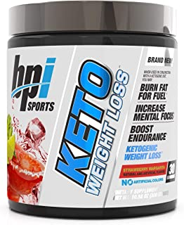 BPI Sports Keto Weight Loss - Ketogenic Fat Burner - Keto Weight Loss Powder- MCTS-BHB Salts - Supports Mental Focus - Pro...
