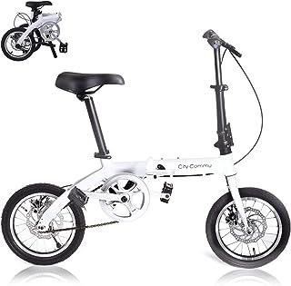 City Commu 折りたたみ自転車 14インチ 超軽量 9.5kg 小径車 ミニベロ ディスクブレーキ付 アルミボディ【メーカー保証1年付 PL保険加入】