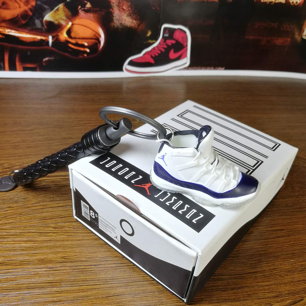 钥匙扣 4D 运动鞋汽车钥匙扣大童篮球鞋钥匙圈男女通用礼物