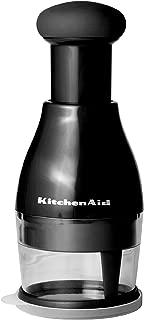 KitchenAid Stainless Steel Manual Food Chopper, Black