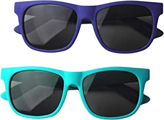 Vintage 2 Pack- Toddler's First Sunglasses for Ages 2-4...