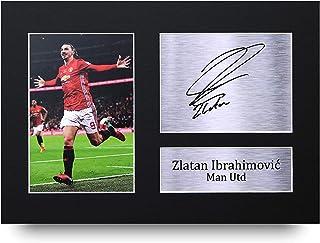 HWC Trading Zlatan Ibrahimovic A4 Sin Marco Regalo De Visualización De Fotos De Impresión De Imagen Impresa Autógrafo Firmado por Manchester United Los Aficionados Al Fútbol