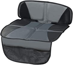 Car Seat Protector - Seat Protection Mat - Thick Padding - (Best Coverage Available), Durable, Waterproof Fabric, PVC Leather Reinforced Corners & 3 Pockets for Handy Storage