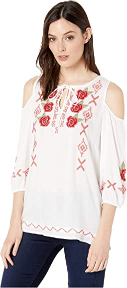 e6e37f3284a739 Roper 0353 cotton gauze peasant blouse white, Clothing | Shipped ...