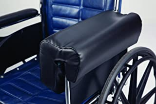 Secure Deluxe Lateral Wheelchair Arm Support Armrest Cushion, Black