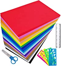 "Supla 96 Sheets 16 Colors EVA Foam Handicraft Sheets 2mm Thick Craft Foam Sheets 9"" x 6"" Assorted Colorful Crafting Sponge..."
