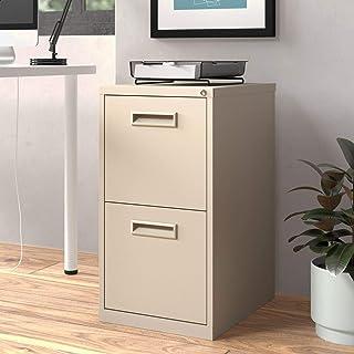 2-Drawer Mobile Vertical Filing Cabinet, Fire Resistant: No, Locking