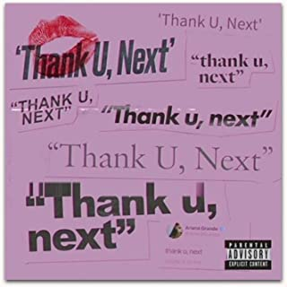 Thank You Next Typography Music Print Poster Decor Home Art Quote