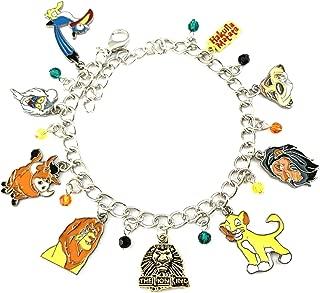 Lion King Charm Bracelet Premium Quality Cosplay Jewelry Comics Cartoons Movie Series with Gift Box