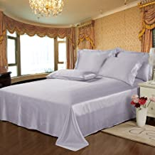 Lilysilk 1B02-32-QN 100% Mulberry Silk Sheets Set 4pcs 19 Momme, Queen, Orchid