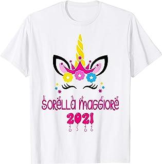 Unicorno Sorella Maggiore 2021 T-Shirt Bambina regalo Maglietta