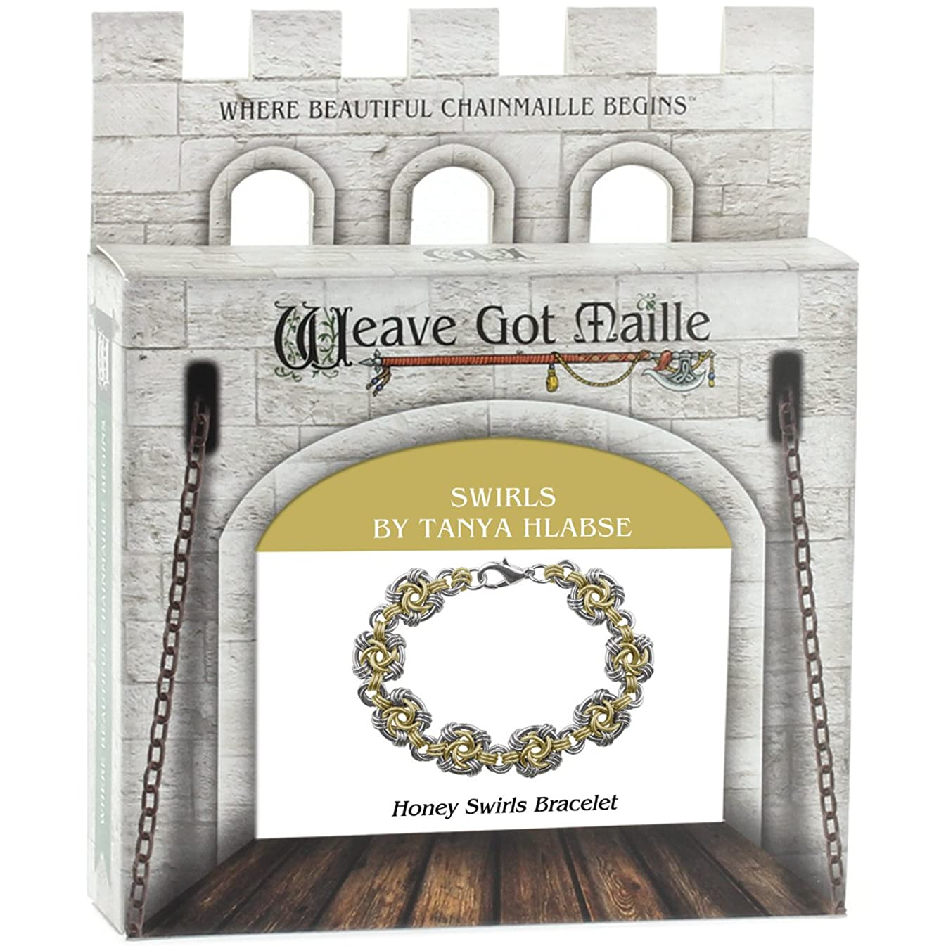 Weave Got Maille Honey Swirls Chain Maille Bracelet Kit