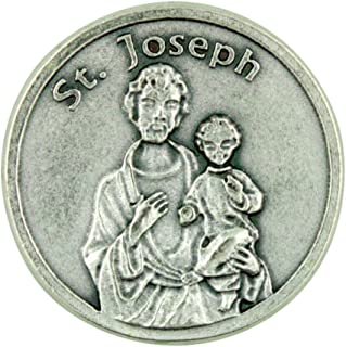 Eartly Father of Jesus Christ Patron Saint St Joseph Pocket Token with Prayer