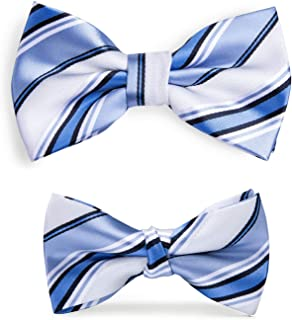 Father and Son Bow Tie Set Silk Pre Tied Holiday Gift